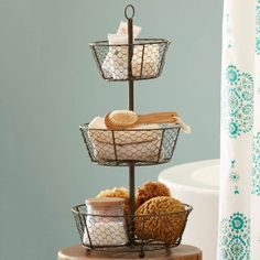 Ordinaire Epergne Tiered Wire Basket