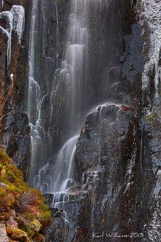 Wailing Widow Falls, Loch na Gainmhich, Assynt, Scotland; photo by .Karl Williams