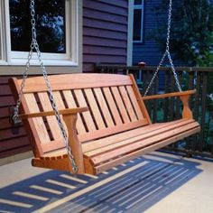 Pallet Furniture Amish Outdoor Furniture Hand Made Mission Porch Swing - Palette Furniture, Art Deco Furniture, Luxury Furniture, Garden Furniture, Outdoor Furniture, Outdoor Decor, Furniture Online, Repurposed Furniture, Wood Furniture