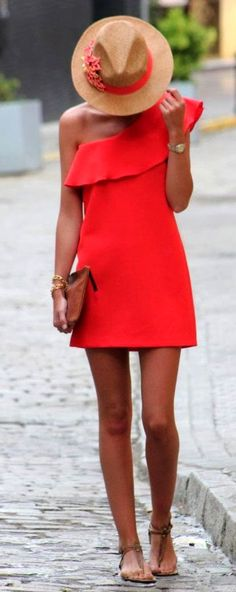 Hot Red & Sexy date outfit #RedHot