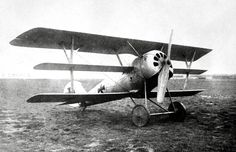 A German Pfalz Dr.I single-seat triplane fighter aircraft, ca. 1918