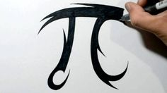 How to Draw a PI Symbol - Tribal Tattoo Design Style - YouTube