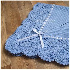Diy Crafts - -Crochet Baby Toddler Childs Afhgan Blanket Pink White Grey Handmade x Handmade. Crochet Blanket Edging, Baby Boy Crochet Blanket, Baby Boy Blankets, Crochet Baby Clothes, Crochet Baby Hats, Baby Knitting, Diy Crafts Crochet, Crochet Gifts, Crochet For Boys
