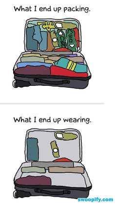 What I Ended Up Packing & Wearing #humor #lol #funny