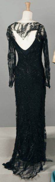 1930's Haute couture evening dress