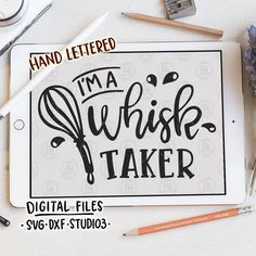 Im a whisk taker fun funny quirky baking chef quote digital cut files SVG DXF for cricut silhouette cameo diy vinyl decals by LoveRiaCharlotte on Etsy Vinyl Crafts, Vinyl Projects, Chef Quotes, Food Quotes, Baking Quotes, Silhouette Projects, Silhouette Cameo, Diy Cutting Board, Vinyl Cutting