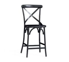 X-Back Bistro Counter Stool, Counter Height - Black