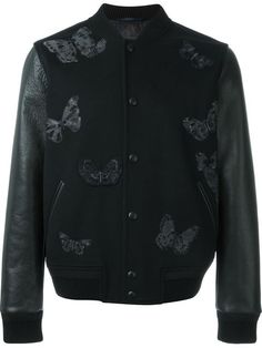 Valentino embroidered butterfly bomber jacket