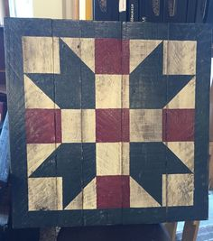 Barn Quilt Patterns for Quilts - Bing images Barn Quilt Designs, Barn Quilt Patterns, Pattern Blocks, Quilting Designs, Mosaic Patterns, Painted Barn Quilts, Painted Rug, Painted Boards, Barn Signs