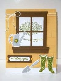 Peanuts and Peppers Papercrafting: Try It Thursday - Stampin' Up! Happy Home Miss You Card