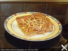 Apfelkuchen mit gerösteten Mandelstiften