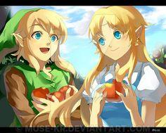 Link et Zelda! >-<