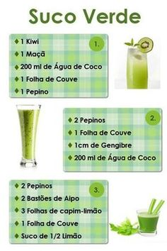 Sucos Verdes detox