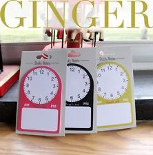 Plan Clock Time Sticker Post It Memo Marker Flag Index Tab Bookmark Sticky Notes