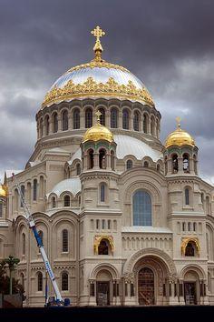 Catedral Naval Kronstadt de San Petersburgo,  Rusia.