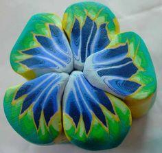 Tropical flower cane tutorial polymer clay