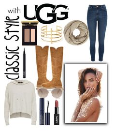 """The New Classics With UGG: Contest Entry"" by justgottalive ❤ liked on Polyvore featuring UGG, River Island, Estée Lauder, BauXo, John Lewis, NARS Cosmetics and ugg"
