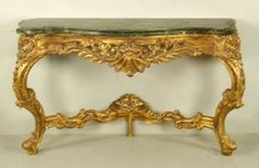 Italian Rococo Gilt Wood Table