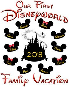 I'm Going to Disney World Family Trip Vacation Mickey Mouse Ears t-shirt Iron On Transfer DIY Custom T Shirt Decal Digital File