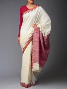 Organic Khadi Cotton-Tussar Silk Kumbha Saree