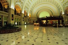 Washington Union Station is not just an architectural marvel; it's also one of the busiest rail stations in the country. Stop in to shop, grab a bite to eat, or just stare at the really cool ceiling.