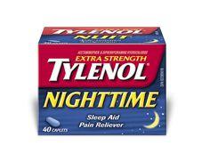 Tylenol box Night Time, Box, Boxes