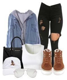 """Untitled #145"" by pimpdaddyk ❤ liked on Polyvore featuring MICHAEL Michael Kors, Alaïa, Yves Saint Laurent and Vans"