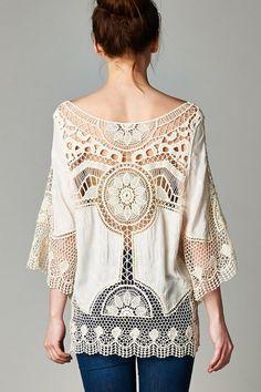 Crochet Capri Tunic | Women's Clothes, Casual Dresses, Fashion Earrings & Accessories | Emma Stine Limited