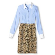 Altuzarra for Target Button Down Dress- Light Blue/White/Natural