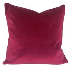 Pink Velvet Decorative Pillow Cover - Throw Pillow - Toss Pillow - Both Sides Toss Pillows, Accent Pillows, Velvet Pillows, Pink Velvet, Decorative Pillow Covers, Hot Pink, That Look, Vibrant, Stylish