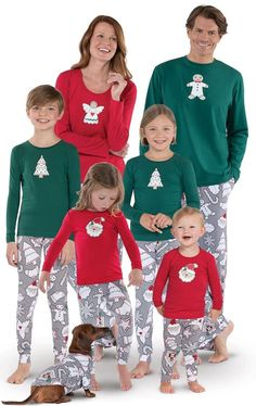 7ec453e74c Christmas pajamas for the family in the cutest Christmas cookie style. Love  the gingerbread man
