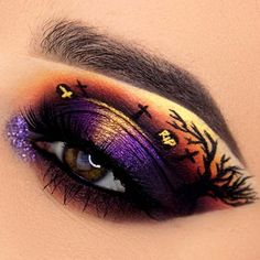 Still looking for the perfect makeup to wear this Halloween? If so, the search may be over because today we have 21 Halloween eye makeup ideas to show you! Makeup Eye Looks, Eye Makeup Art, Crazy Makeup, Smokey Eye Makeup, Cute Makeup, Perfect Makeup, Fairy Makeup, Mermaid Makeup, Fröhliches Halloween