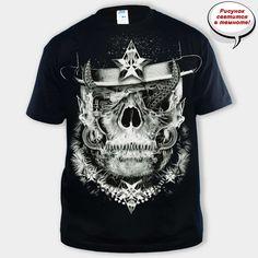 Футболка Gangsta Skull back   250 грн. Размеры: S, L ,M, L, XL, 2XL. Футболки. Мужские футболки. Футболки с принтом. Футболки с черепами
