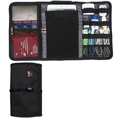 BUBM New Wrap Electronics Accessories Travel Organizer Fit iPad Mini 3 Folder Black *** Continue to the product at the image link.