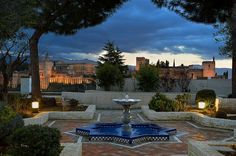 The seen from the Granada Andalucia, Andalusia Spain, Granada Spain, Places To Travel, Places To Visit, Spain Holidays, Islamic Architecture, Moorish, Spain Travel