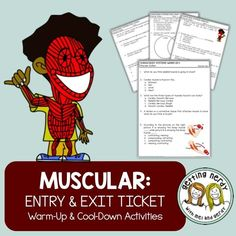 Learn about and review the Muscular System in your Human Body Unit by using our warm-up and cool-down activities. These student-friendly entry and exit tickets are perfect for learning new material, reinforcing concepts, or reviewing the day's lesson. We have also included a digital format to use while distance learning. Includes DIGITAL GOOGLE CLASSROOM links!
