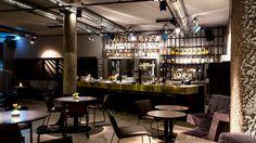 Jesse James || Restaurant & Bar  Stylishes Bar-Restaurant Restaurants, Bistro, Cafe Shop, Cafe Design, Coffee Drinks, Restaurant Bar, Liquor Cabinet, Jesse James, Table