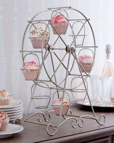 Base Para Cupcakes Soporte Exhibidor Rueda De La Fortuna - $ 280.00 en MercadoLibre