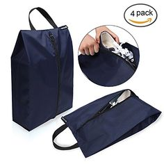 Bagail Set of 4 Lightweight Waterproof Nylon Storage Traveling Tote Shoe Bags