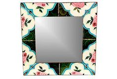 One Kings Lane - Reflections of Style - Ta'ila Pink Rose Mirror