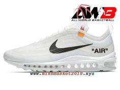 Chaussures Nike Prix Pas Cher Pour Homme Off-White X Nike Air Max 97 Blanc  Noir AJ4585-100 013dfa70d3a0