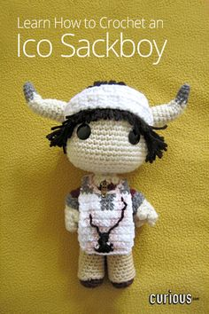 Combine the worlds of LittleBigPlanet and Ico! Golden Jelly Bean shows you how to crochet an Ico sackboy doll, complete with his signature horns and bandages.