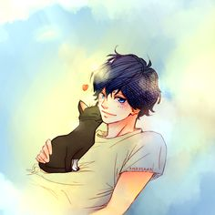 Kou Machubi with a neko