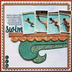 Project - Swim -- *Graphic 45 and Shimmerz* by Stacy Cohen posted 02/10/10 at 09:37 AM Galleries: Scrapbooking She used papers from Graphic 45's new On The Boardwalk line and sprayed the paper with Shimemrz new Vibez (such cool stuff!) and Spritz.