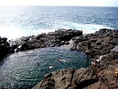 Queens Bath, Kauai. Dangerous, but so worth it on a good looow tide day!