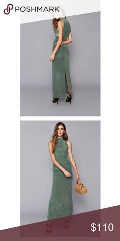 """Stone Cold Fox """"Amalfi"""" Gown Light """"sea green, silk floor length gown. Never worn. Size small. Stone Cold Fox Dresses Maxi"""