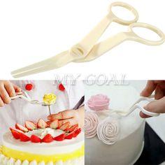 Angled Flower Lifter Sugarcraft Scissor Fondant Cake Edge Decorating Tool Icing