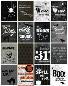 Free Printables: Over 15 Halloween Printables at a girl and a glue gun