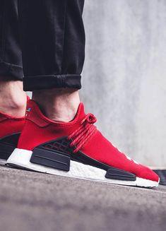 On-Foot: adidas HU NMD x Pharrell Williams (September Releases) - EU Kicks: Sneaker Magazine Hypebeast, Adidas Nmd, Adidas Shoes, Best Sneakers, Casual Sneakers, Teen Fashion, Fashion Shoes, Fashion Trends, Fashion Models
