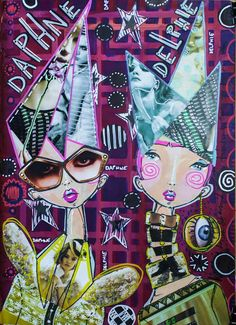 James Burke - Got the Ol' glue stick out and enjoyed a bit of collage in this piece :) And, BONUS, Those glasses with the eyes fit my digistamp PERFECTLY!!! On THE DYAN REAVELEY ART JOURNALING Gateway FB Group.